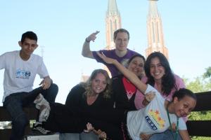 Da esquerda para a direita: Diego, Anaa, Rodrigo, Nega, Paula e Dii