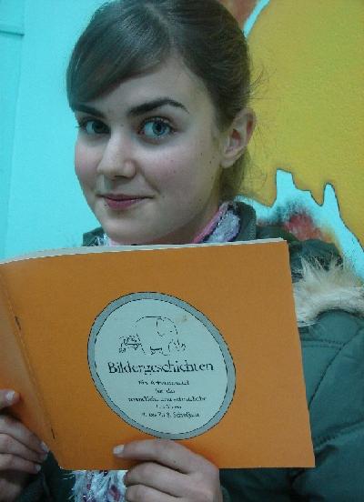 Gabriela gosta de livros sobre cultura alemã