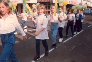 A Anaa em um desfile cívico de 7 de setembro!