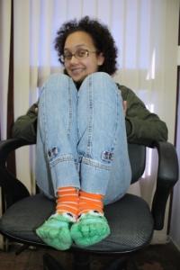 A Dii e sua nova meia
