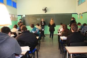Nas salas de aula!