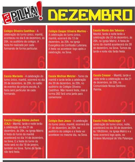 Calendário Dezembro NaPilha