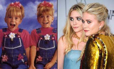 Mary-Kate e Ashley Olsen (27) se revesavam para interpretar a pequena Michelle