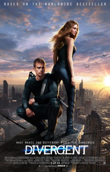 """Pôster do filme 'Divergente': """"O que faz você diferente, faz você perigoso""""."""