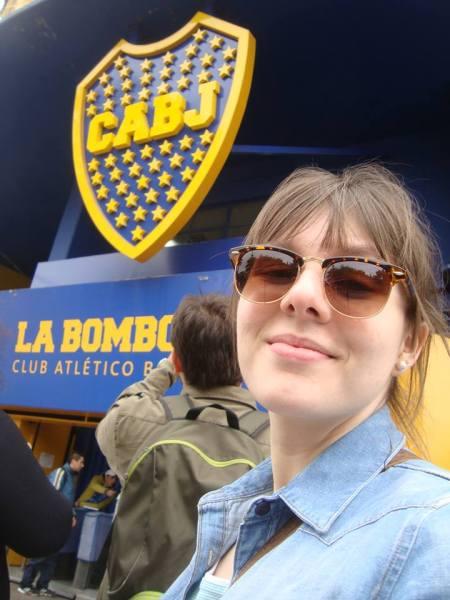 Mariana divando em Buenos Aires